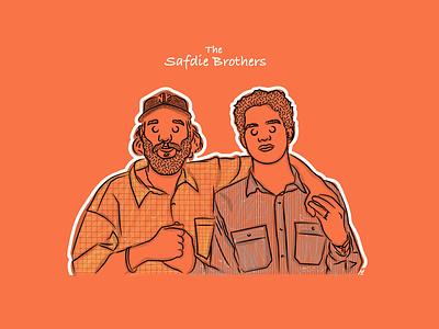 The Safdie Brothers logo design illustraion director new york ny movie film cinema