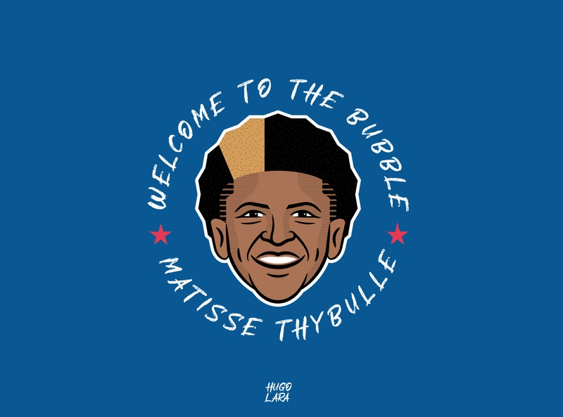 Welcome to the Bubble by Matisse Thybulle nba playoffs welcome to the bubble sixers orlando matisse 76ers philadelphia sport bubble basketball nba
