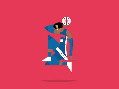 Matisse (not the painter) illustration logo sixers 76ers philadelphia basket painter sport basket ball nba