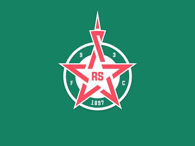 Red Star FC redesign rebranding illustrator ligue 1 france sport football soccer concept logo