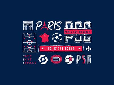 Ici c'est Paris champions league ligue 1 france paris logo illustrator football sport soccer psg