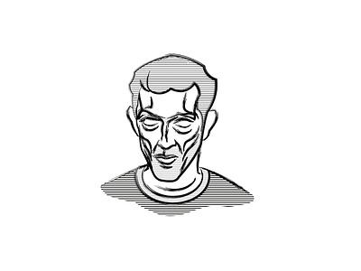 Cassel actor france portrait movie film cinema illustration illustrator logo