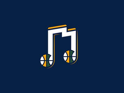 Take Note jazz music salt lake city take note sport concept ball note utah basketball nba logo utah jazz