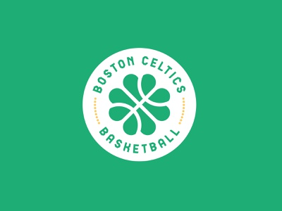 Boston Celtics ball clover branding concept club team sport franchise logo basketball nba boston celtics