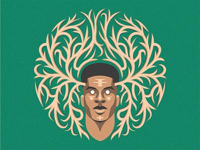Fear the Greek deer graphicdesign bucks illustration logo sport basketball nba milwaukee bucks giannis antetokounmpo