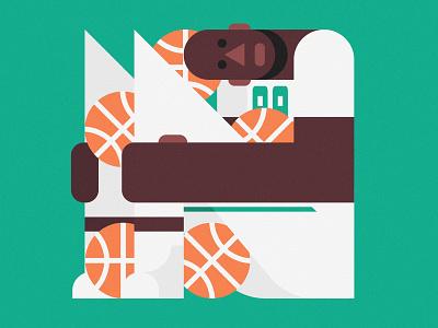Tacko Fall illustration illustrator sports sport logo basketball celtics boston celtics nba tacko fall