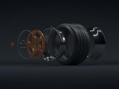WCI CC10 wheel render design illustration cinema4d 3d