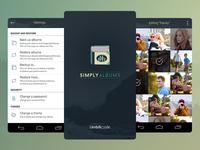 Simply Albums Branding & Mobioe App UX/UI