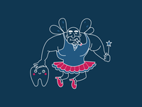 Tooth Fairy illustration for Stealth Mode Startup