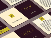 Delftia identity - Business card