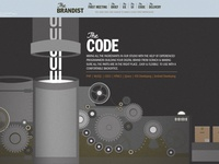 Brandist homepage - the code section