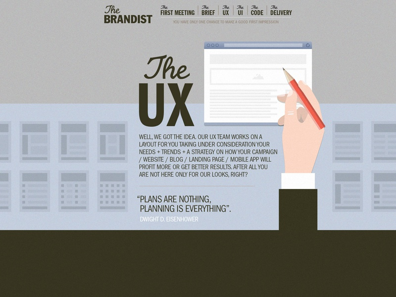Brandist website - The UX section web design logo branding design ux design illustration design illustration typography vector ux app ui