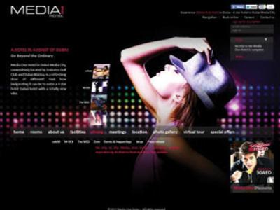 Media One Hotel website graphic design hotel models web design website media