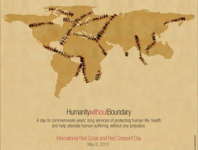 International Red Cross illustration design poster world map world flyer red cross