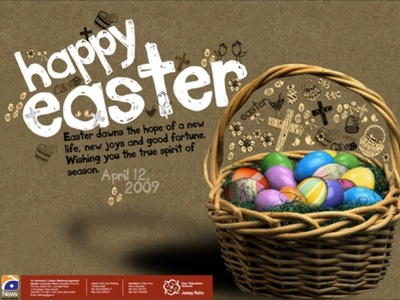 Happy Easter Day design aesthetic flyer poster event easter