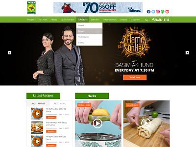 Masala TV Landing Page website concept uxuidesign uiux uxdesign ui design aesthetic websites website recipe tv masala tv