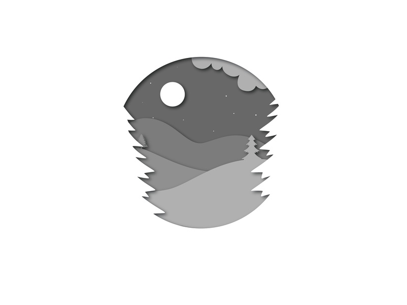 Night Scene. illustrator design scenery grey layers night scene night icon icons