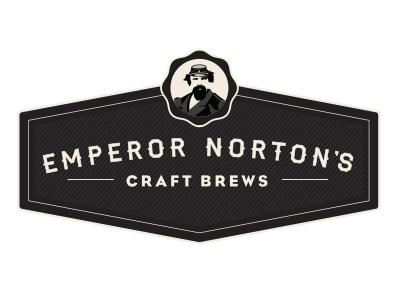 Emperor Norton's Logo beer logo identity monochrome vintage