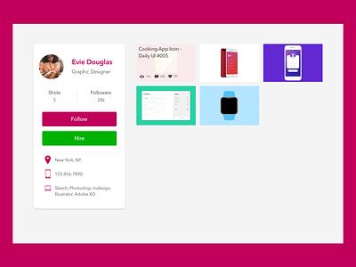 Daily UI #006 - Profile dailyui 006 dailyui profile redesign dribble