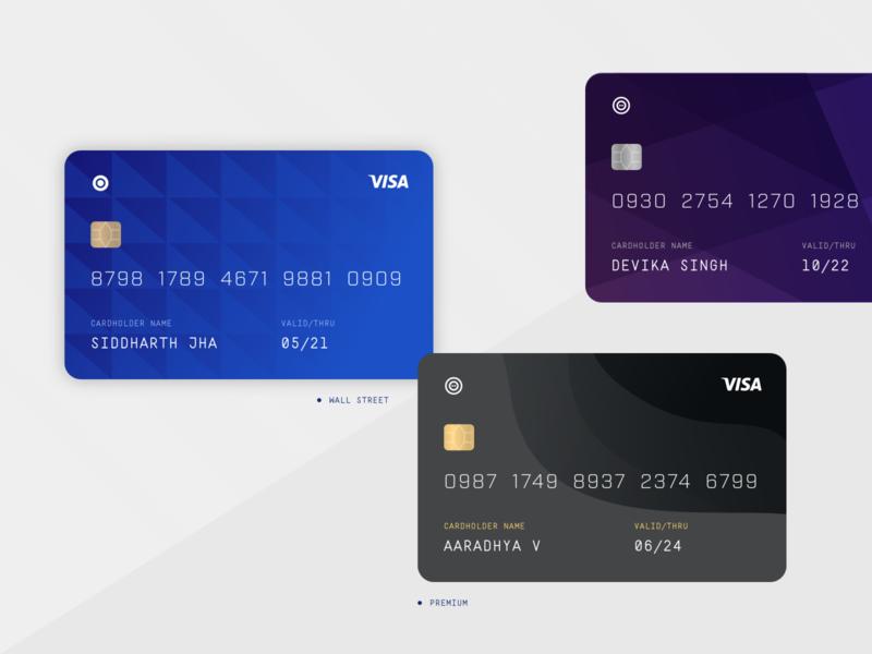 Credit Card design options security concept pattern graphic design card visa payment design credit card