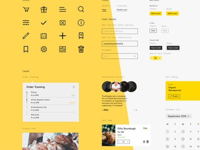 Design System for Bakery Website logo branding graphic design cards bakery adobe xd components icon design typogaphy style guide design system