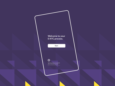 Pattern for Video KYC App uxdesign screen video kyc ux ui geometric graphic design design pattern