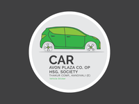 Sticker for parking indication & vehicle inventory