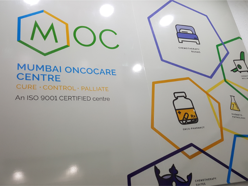 Mumbai Oncocare Centre - Branding & interior graphics visual style graphic design icon design illustration chemotherapy cancer hospital art direction branding