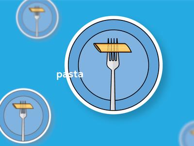 Sticker design ux round design print pasta illustration graphic design sticker