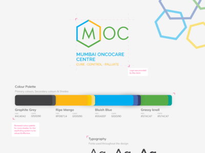 MOC - Brand Identity presentation behance colours ui style guide ux icons graphic design illustration hospital art direction branding