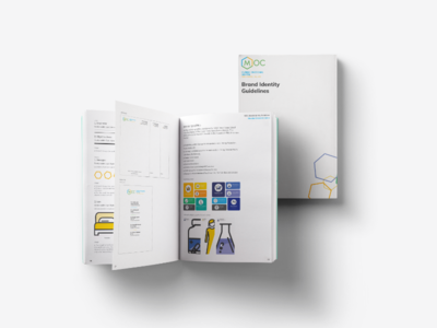 MOC - Brand Identity guidelines illustration icon rules design branding guidelines book