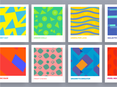Patterns for Brand Identity of a tshirt brand illlustration graphic cards pop art colour ui patterns branding tshirt