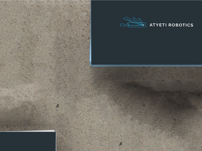 Logo design for Atyeti Robotics clean illustration tech corporate business cards swiss knife swiss design logo