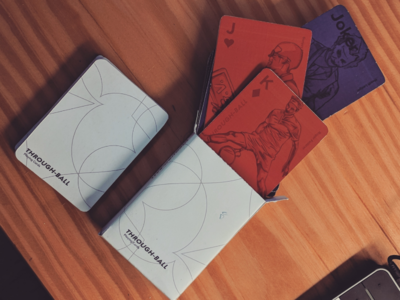 Through-Ball Playing Cards rough sketch personalities character characters illustration paper cards print graphic design design playing cards
