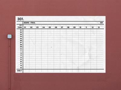 Dartboard Scoreboard design scoreboard dartboard icon logo poster print graphic design illustration design darts