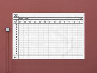 Dartboard Scoreboard design