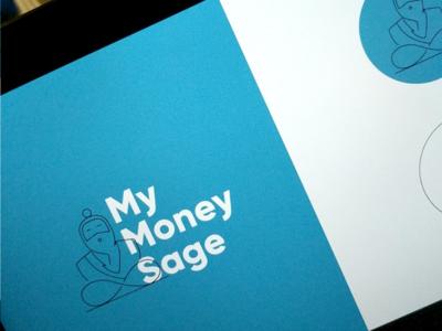 Logo option for My Money Sage startup finance fintech illustration sage wise logo brand identity design branding