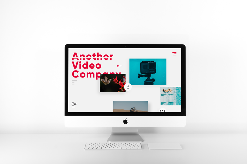 Branding & UX for Another Video Company typography content media movie video design logo ui ux graphic design branding