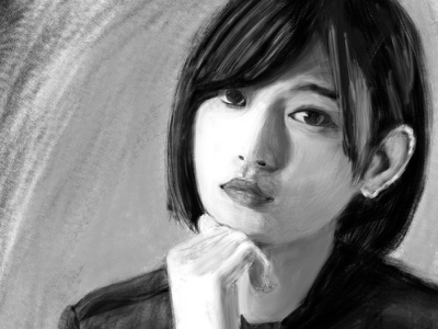 Manaka Shida -Portrait digitalpainting 2dart drawing digitalart illustration painting