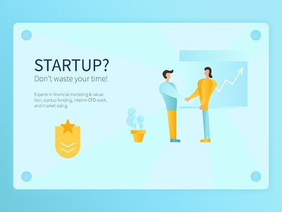 Startup Landing Page modern flat illustration interface ux ui page landing design graphic web