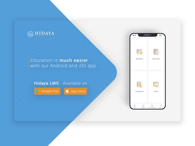 Hidaya LMS app app modern layout page landing interface flat illustrator web ui ux illustration design graphic