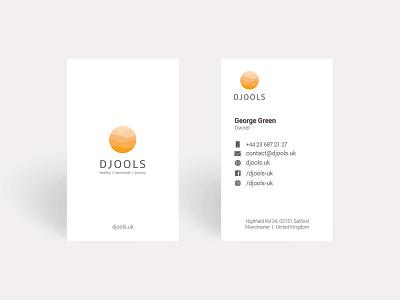 Djools Visit Card branding logo visit card visit illustrator ux ui graphic design