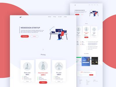 Web Design Startup Landing Page