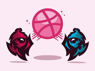 HellO Dribbble mascot illustration dribbble minions