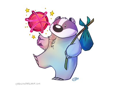 First Shot dribbble first shot space badger character design