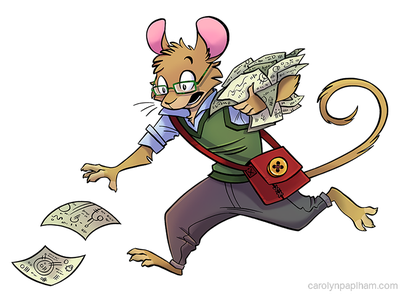 Expert ttrpg purple aether games expert anthropomorphic mouse character design