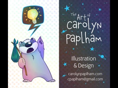 Business Card 2019 idea space badger badger business card character design illustration
