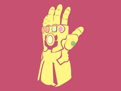 Thanos Gauntlet luva flat marvel illustration marvel studios gauntlet thanos