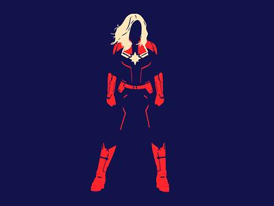 Captain Marvel marvel studios design heroes marvel flat illustration captain marvel
