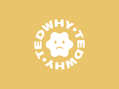 Ted is Sad smiley tedwhy branding logo face frown sad